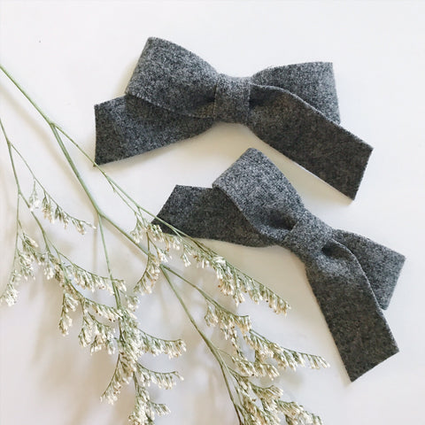 Mini School Girl Heathered Grey - Ever Iris Designs