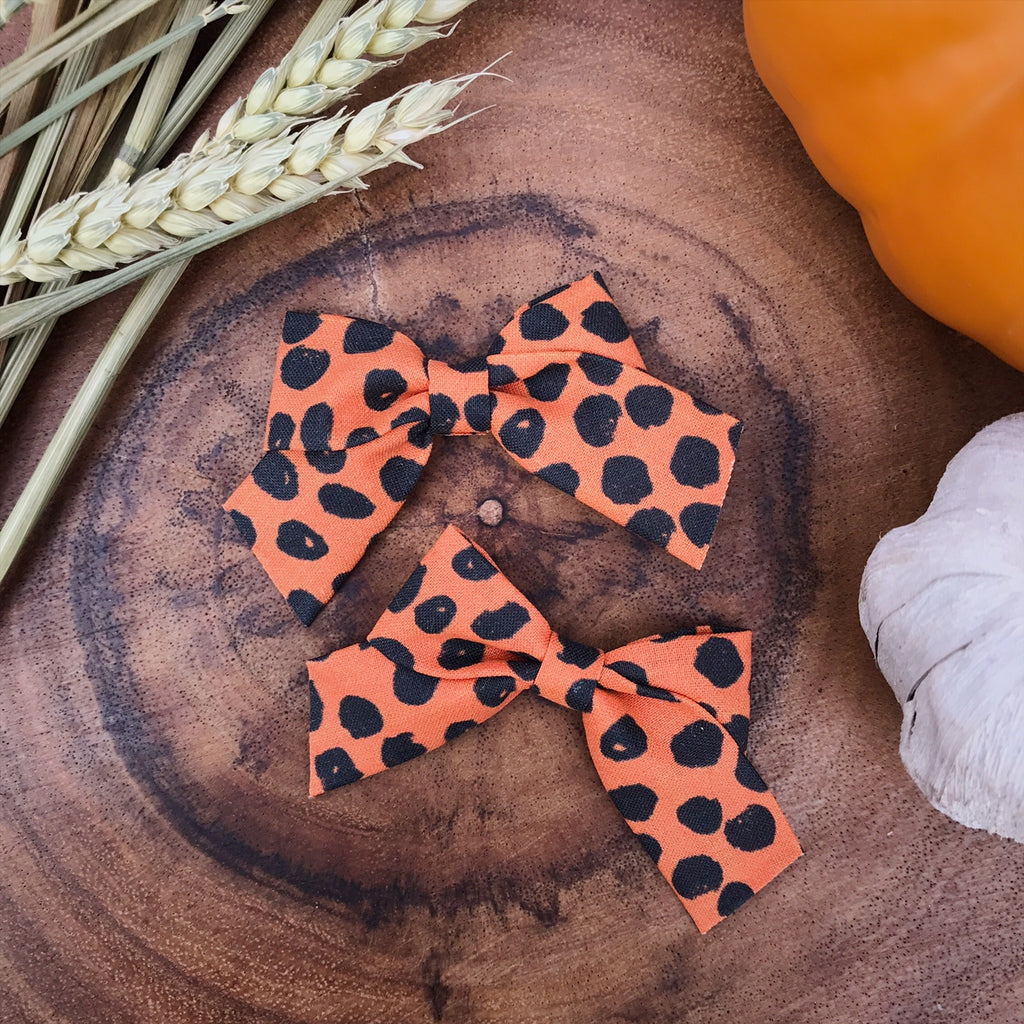 Mini School Girl Orange With Black Dots - Ever Iris Designs