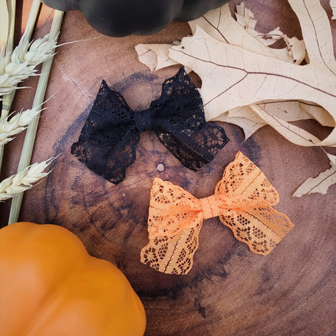 Mini School Girl Lace Orange and Black