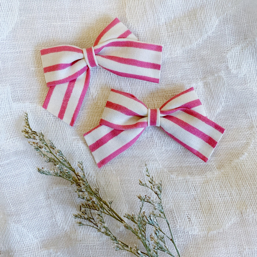 Mini School Girl Pink Stripe - Ever Iris Designs