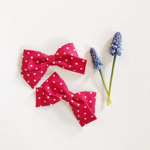Mini School Girl Red Polka Dot - Ever Iris Designs