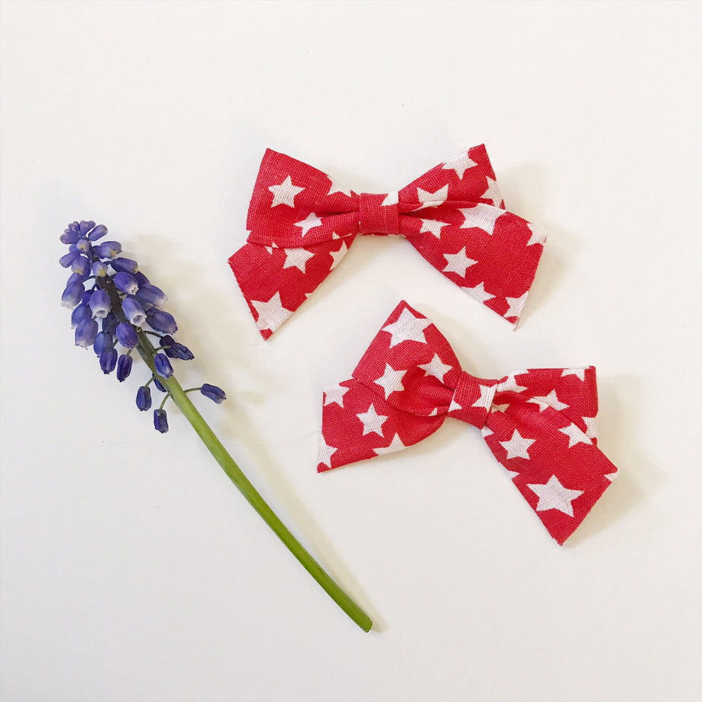 Mini School Girl Red and White Stars - Ever Iris Designs