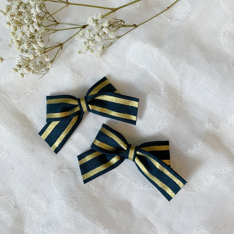 Mini School Girl Royal Stripe - Ever Iris Designs