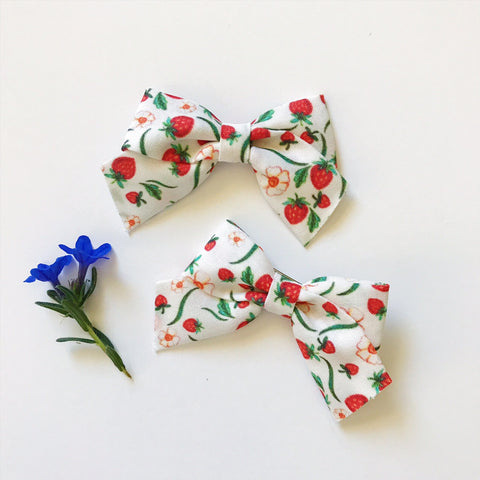 Mini School Girl Summer Strawberries - Ever Iris Designs