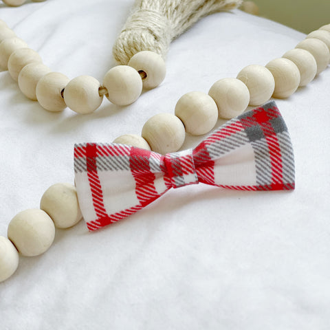 Red and Grey Bow Tie
