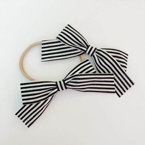 School Girl Black Skinny Stripe