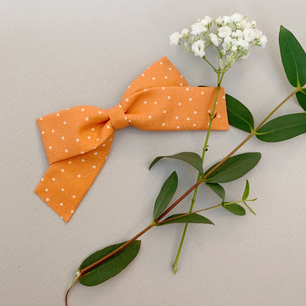 School Girl Orange with White Polka Dots - Ever Iris Designs