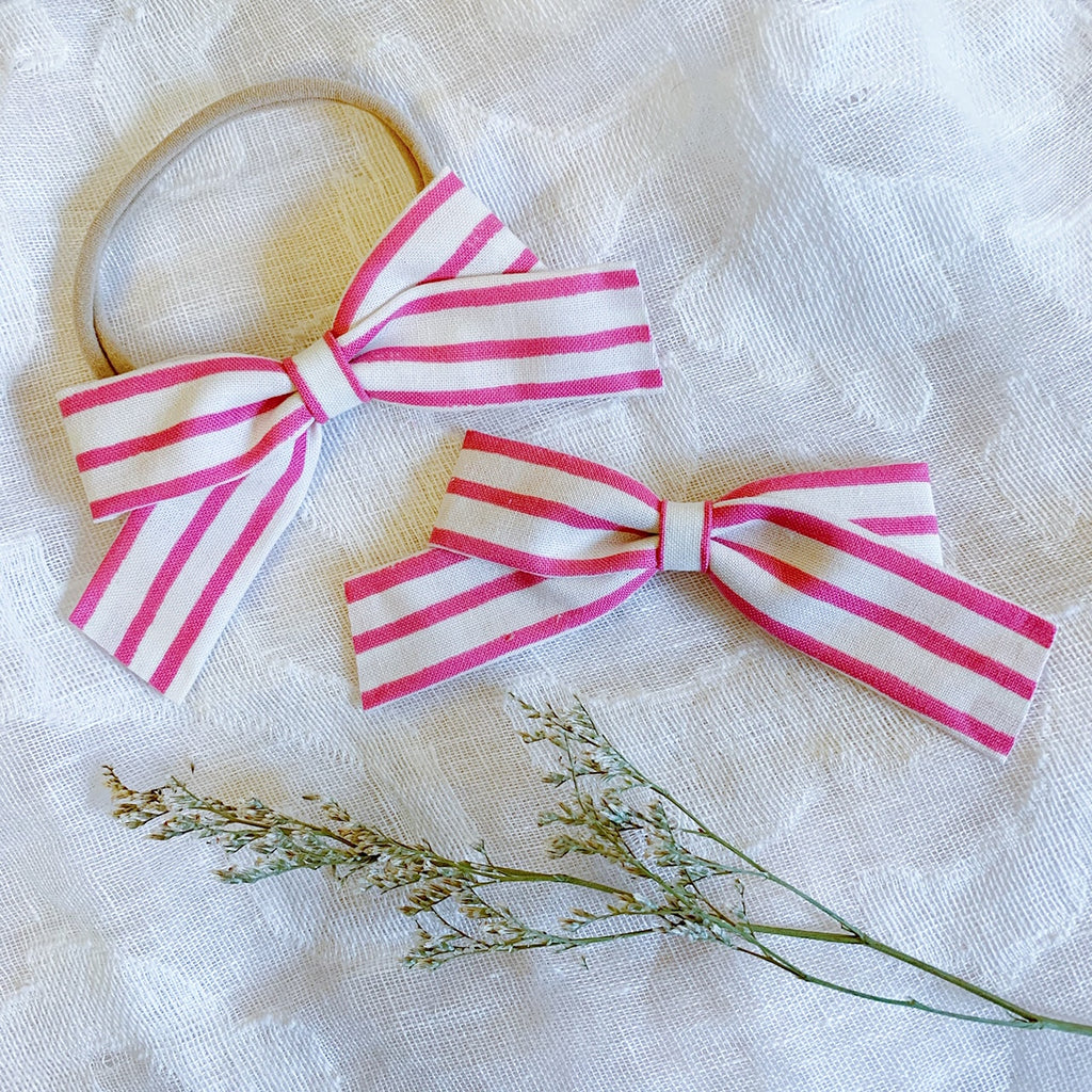 School Girl Pink Stripe - Ever Iris Designs