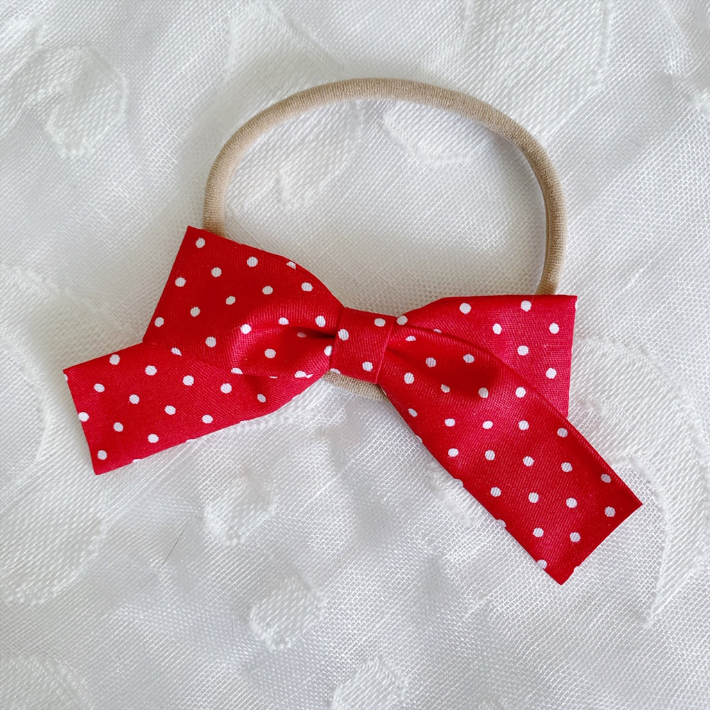 School Girl Red with White Polka Dots - Ever Iris Designs