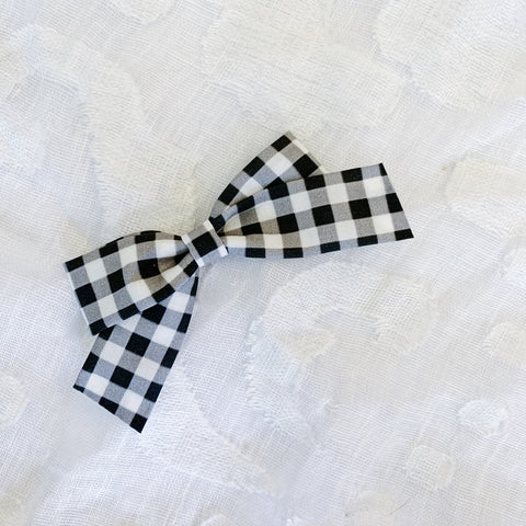 Black and White Plaid School Girl - Ever Iris Designs