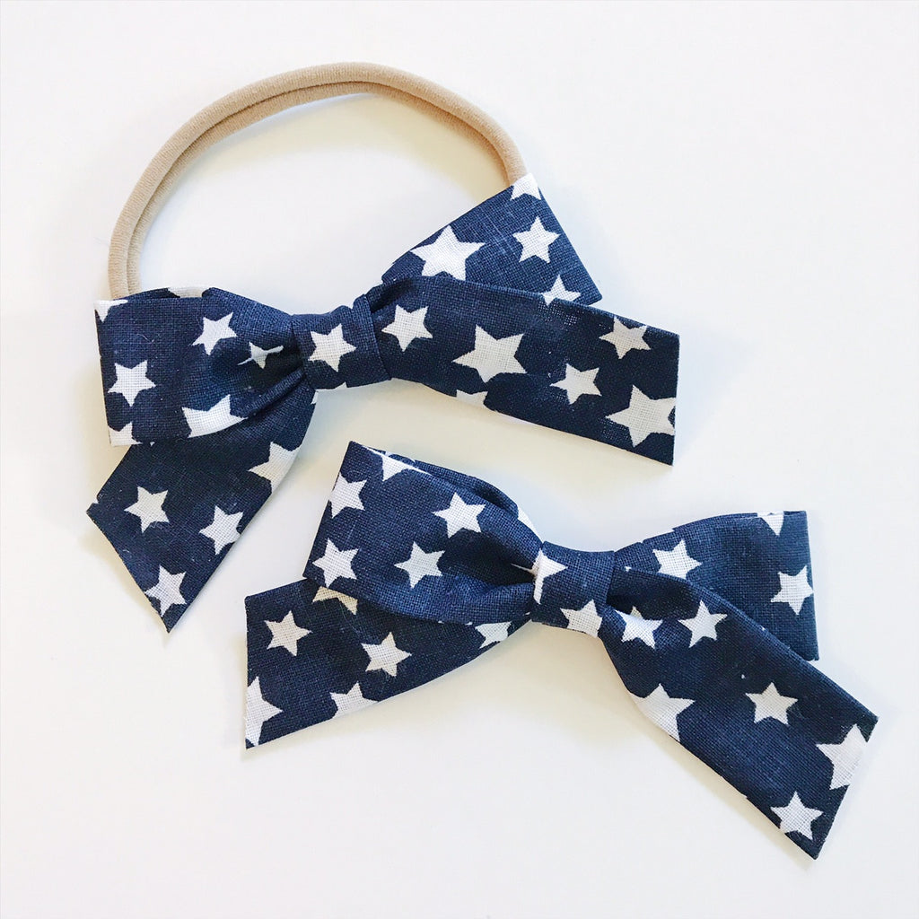 School Girl Blue and White Stars - Ever Iris Designs