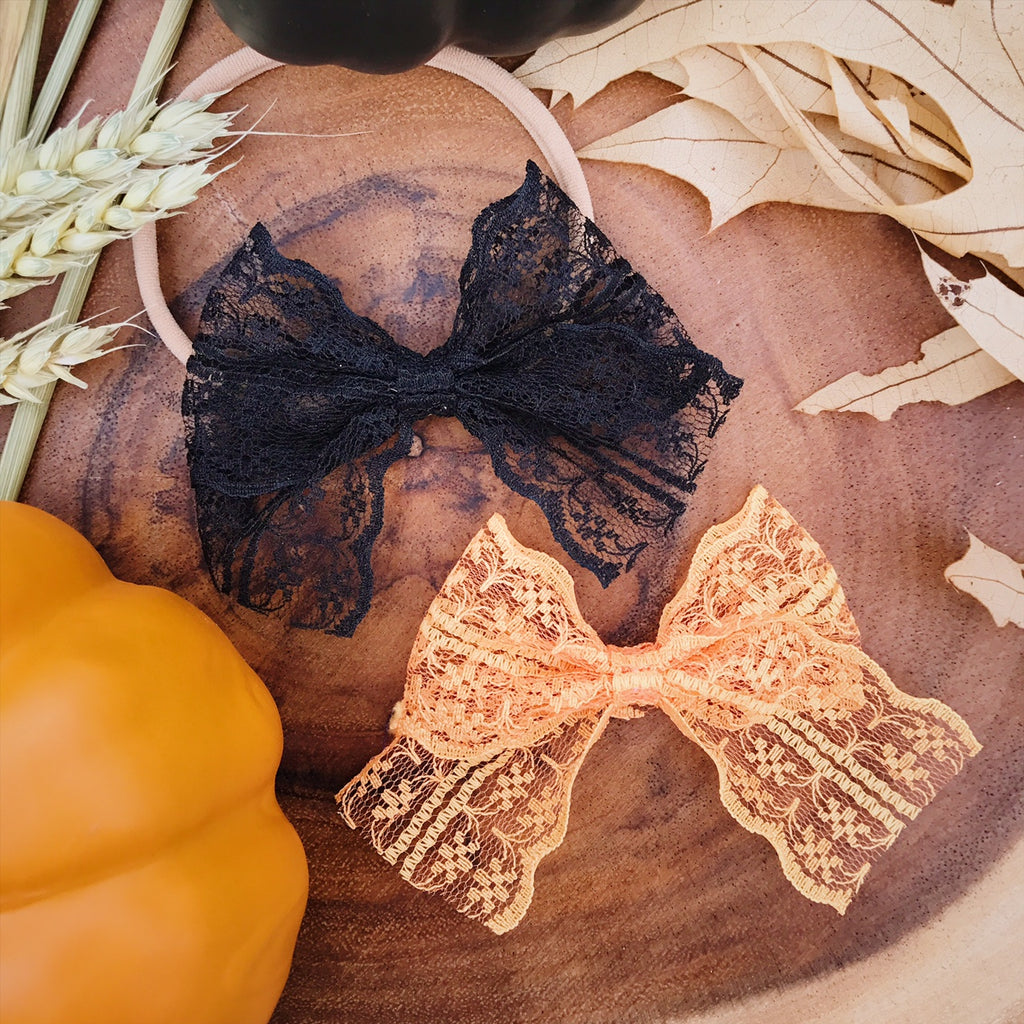 School Girl Lace Orange and Black - Ever Iris Designs