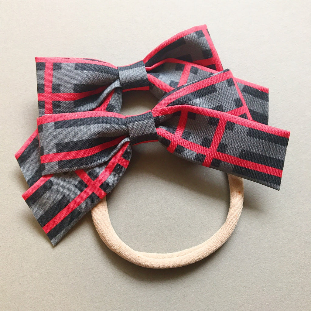 School Girl Red and Grey Plaid - Ever Iris Designs