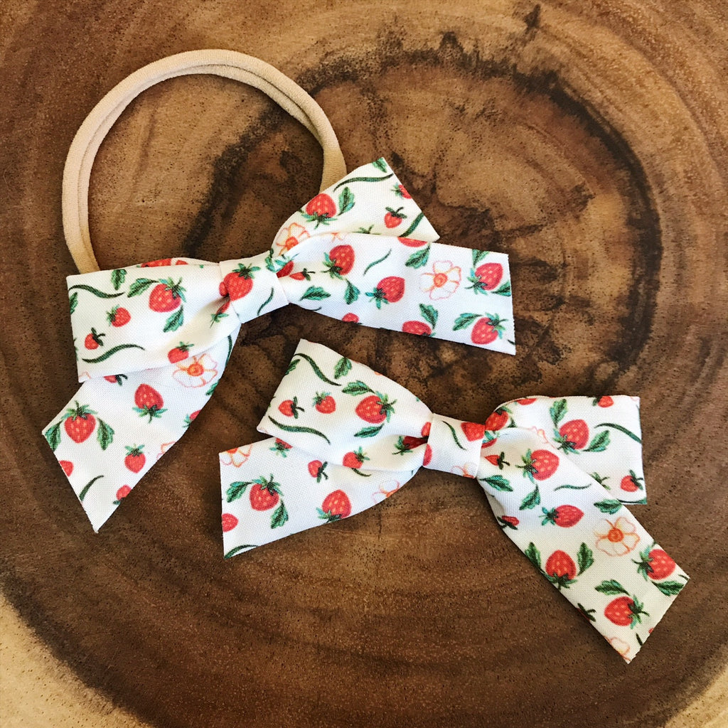 School Girl Summer Strawberries - Ever Iris Designs
