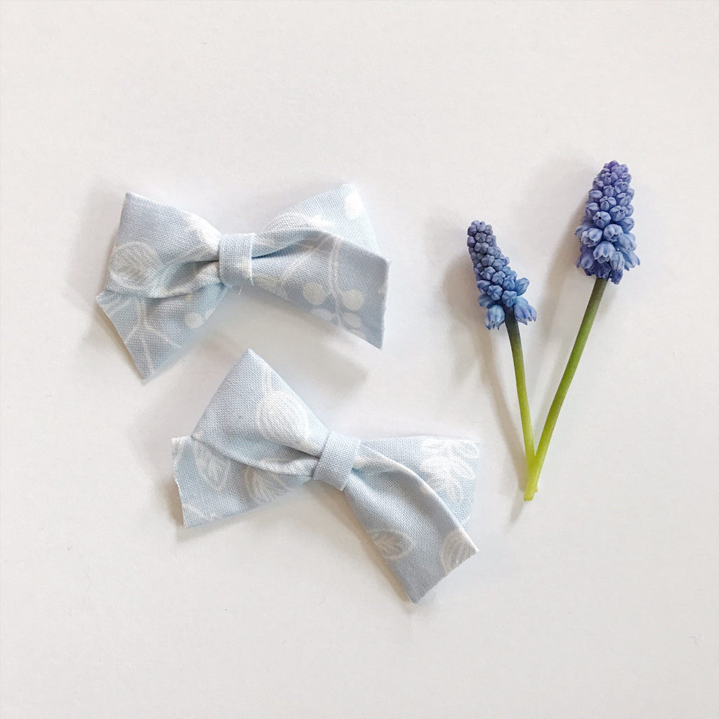 Mini School Girl Les Fleurs Pale Blue - Ever Iris Designs