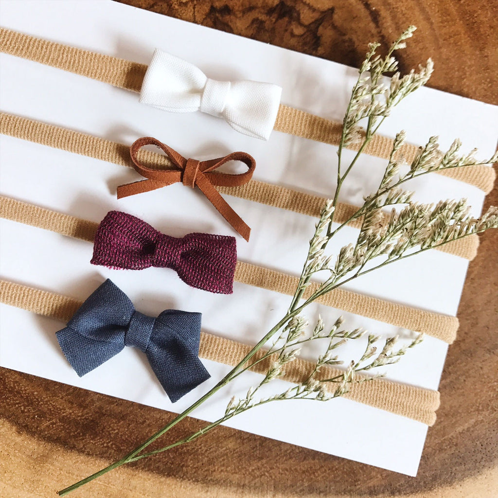 Itty Bitty Bow Set or Individual - Ever Iris Designs