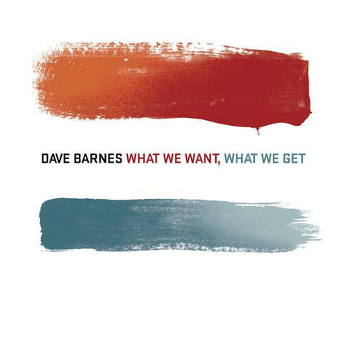 Dave Barnes: What We Want, What We Get CD