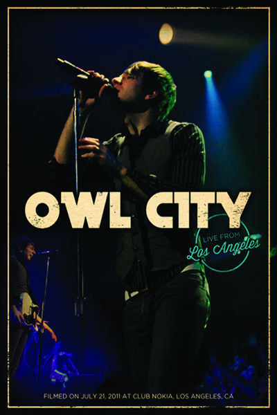 Owl City: Live From Los Angeles DVD