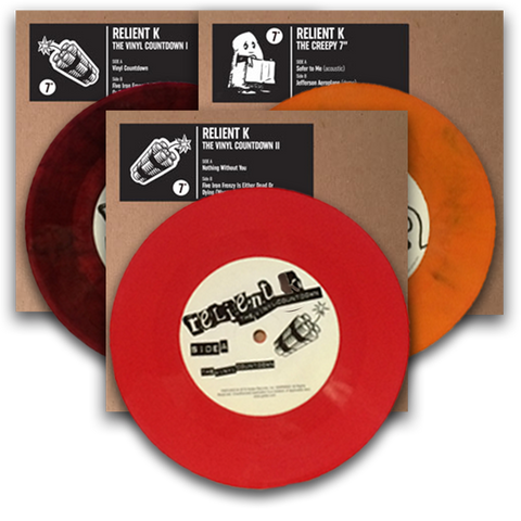 "Relient K: 7"" Vinyl Series 1 (Creepy, Vinyl Countdown 1 & 2)"