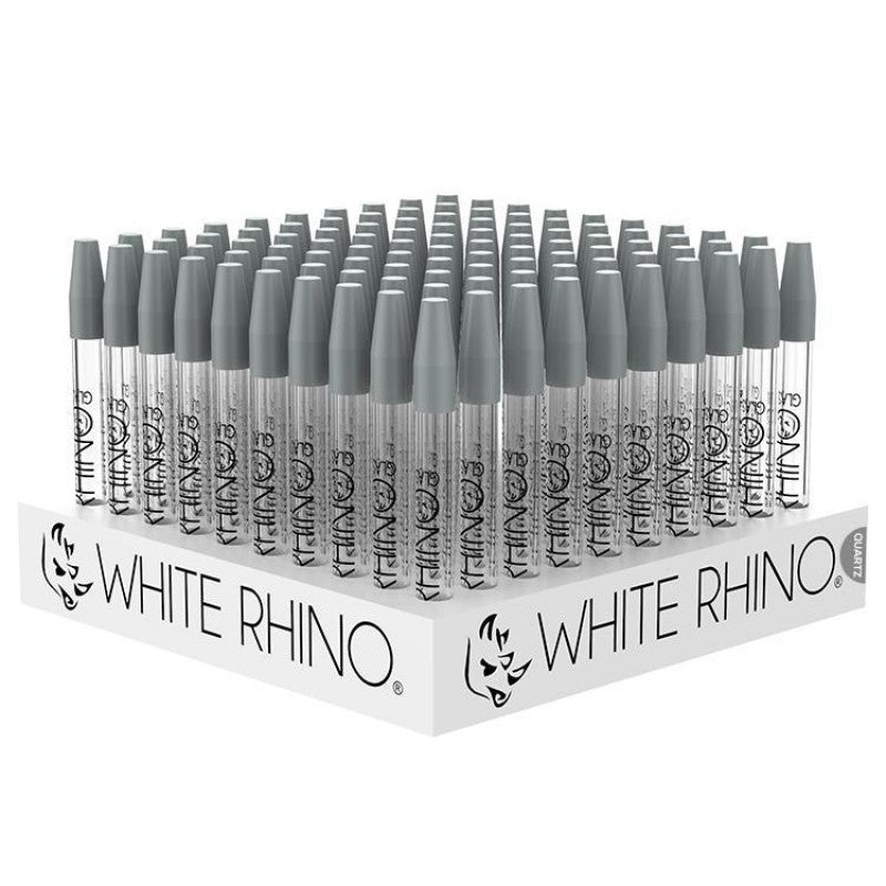 White Rhino Quartz Glass Straws 100pk