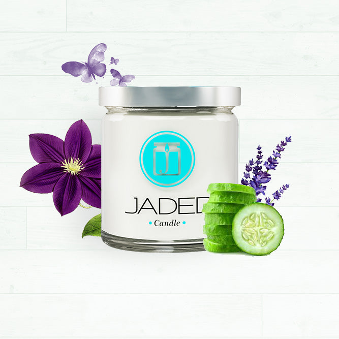 Jaded Candle Soy Wax Scented Candle Lavender Cucumber Sage Candle