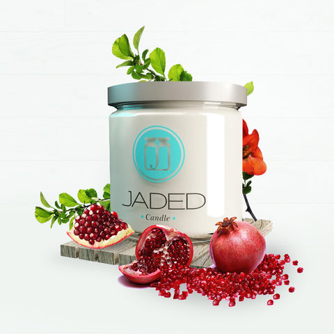 Jaded Candle Soy Wax Scented Candle Pomegranate Sage Candle