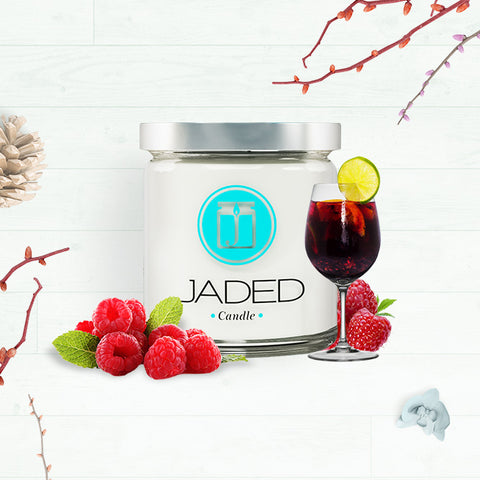 Jaded Candle Soy Wax Scented Candle Raspberry Sangria Candle