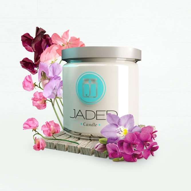 Jaded Candle Soy Wax Scented Candle Sweet Pea Candle