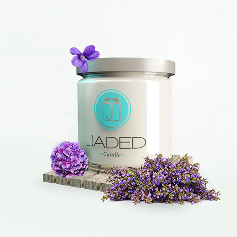 Jaded Candle Soy Wax Scented Candle Violet Lime Candle