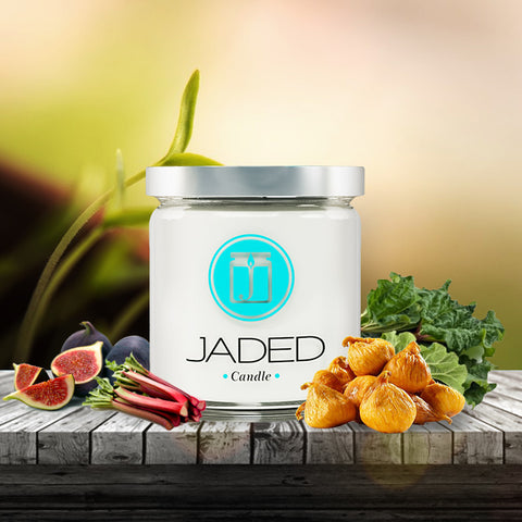 JADED CANDLE: FIG AND RHUBARB CANDLE