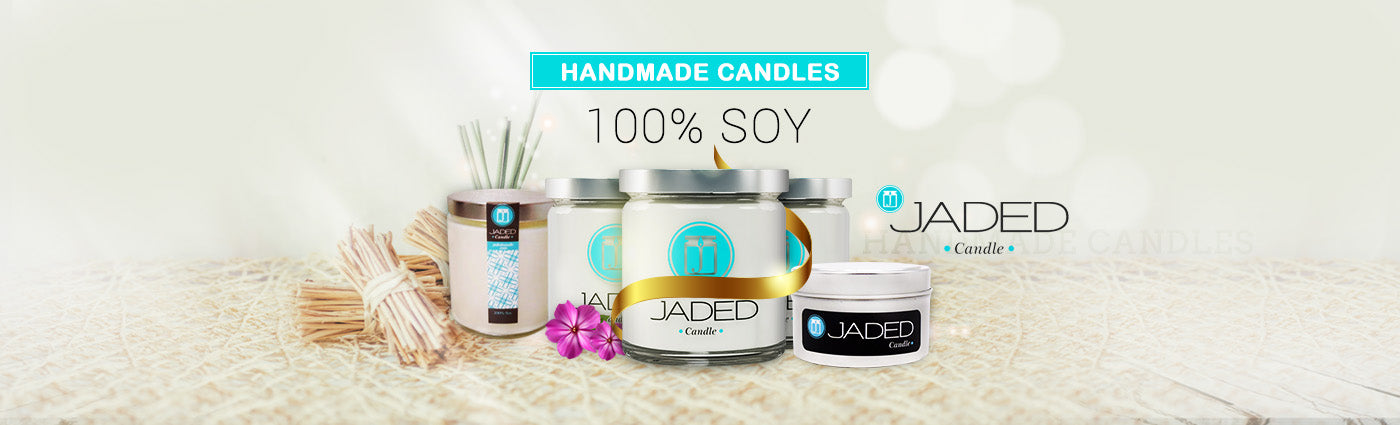 handmade 100% soy wax candles
