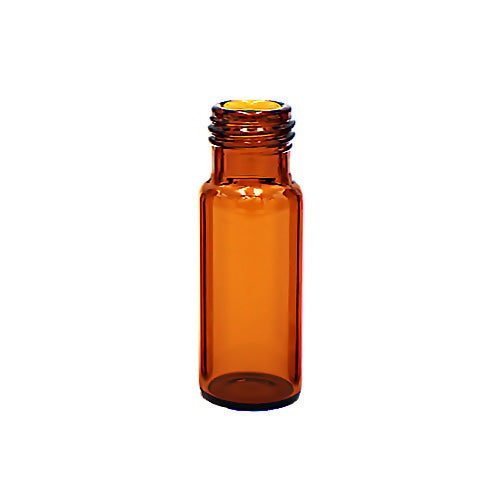 9 mm Screw Top Vials, Amber Glass, 100 pcs/pk