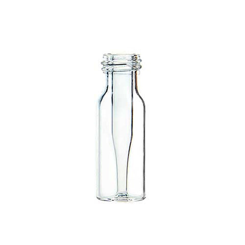 9 mm Screw Top Vials with 0.200 mL Fused Conical Inserts, Clear Glass, 100 pcs/pk