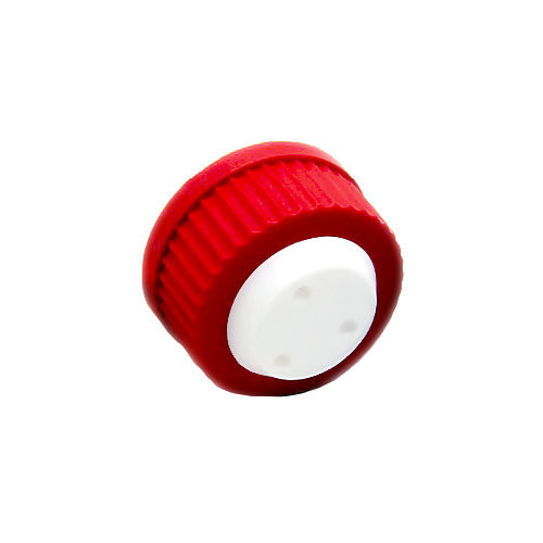 "GL45 Safety Cap, Red,Three Holes for 1/8"" OD Tubing, 1 pc/pk"