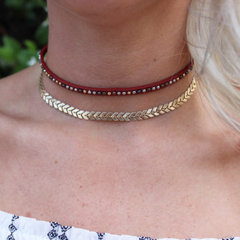 Red Greek Choker