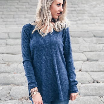 Cozy Navy Knit