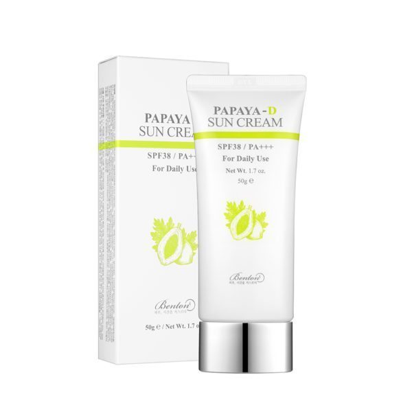 BENTON PAPAYA-D SUN CREAM SPF38 PA+++ 50g (FOR DAILY USE) - IMPAVIID