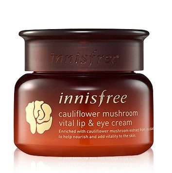 INNISFREE CAULIFLOWER MUSHROOM VITAL LIP AND EYE CREAM - IMPAVID GIRL