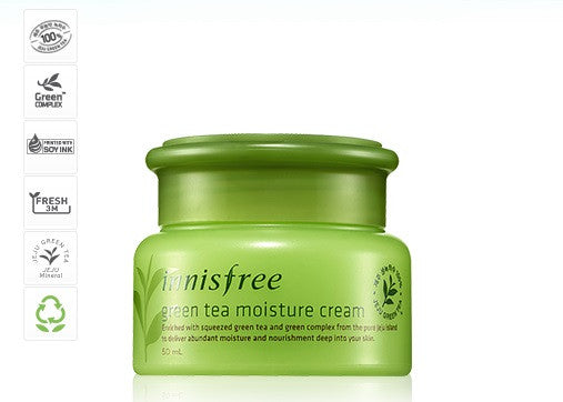 INNISFREE GREEN TEA MOISTURE CREAM - IMPAVID GIRL