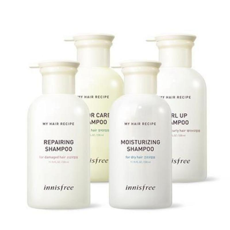 INNISFREE MUUD HAIR RECIPE SHAMPOO 4 TÜÜBID 330ML - impaviid