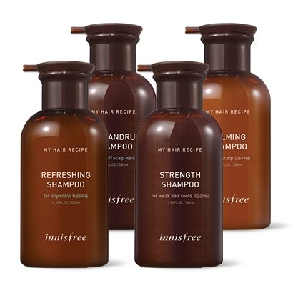INNISFREE MUUD HAIR RECIPE SHAMPOO 330ML 4 OPTIONS - impaviid