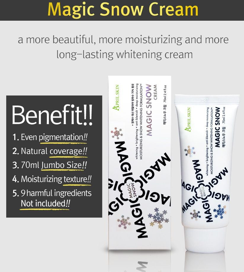 APRIL SKIN MAGIC SNOW CREAM - TÁC DỤNG