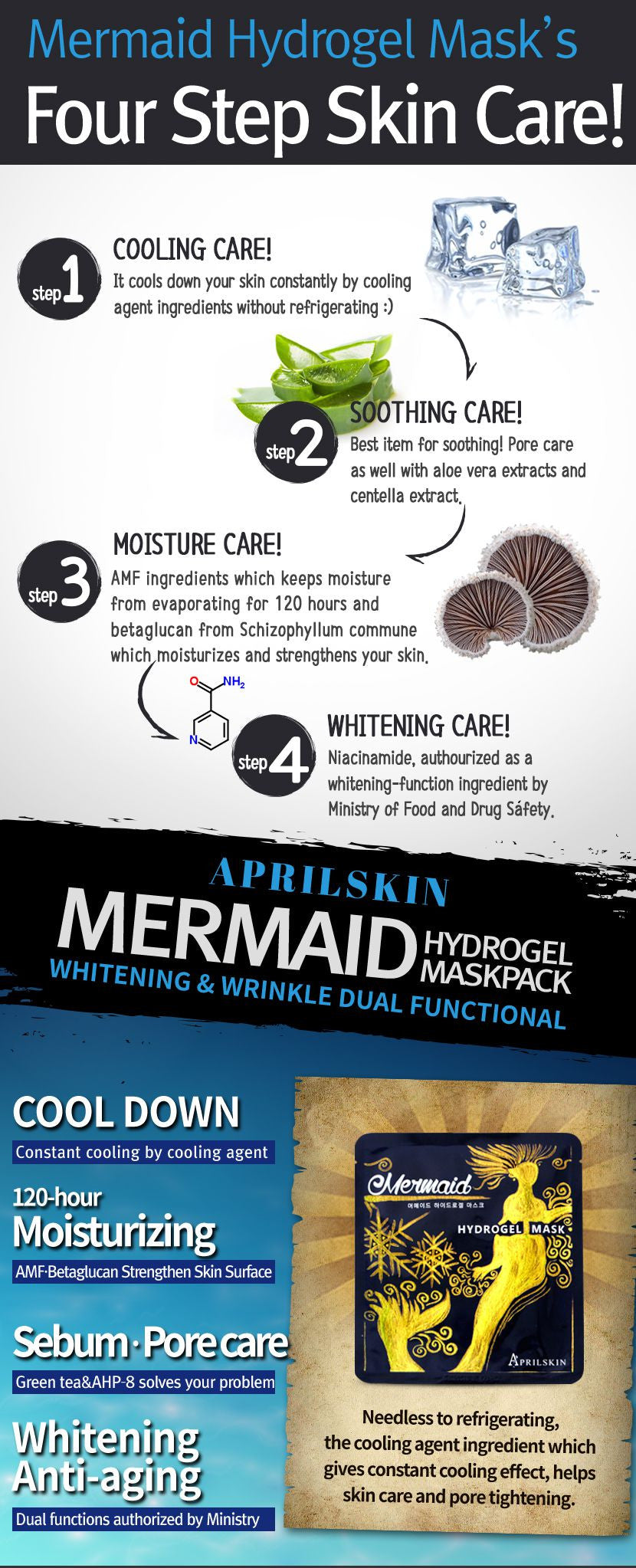 APRIL HUDMERMAID HYDROGEL MASK PACK - IMPAVIID