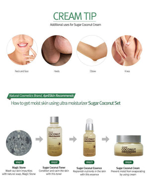 APRIL SKIN SUGAR COCONUT CREAM - TÁC DỤNG