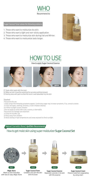 APRIL SKIN SUGAR COCONUT ESSENCE - TUYỆT VỜI