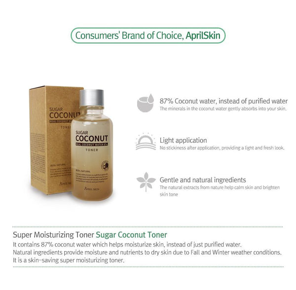 APRIL SKIN SUGAR COCONUT TONER - IMPAVID GIRL