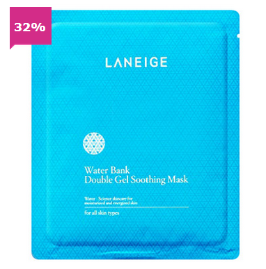 LANEIGE WATER BANK DOUBLE GEL SOOTHING MASK 5PCS