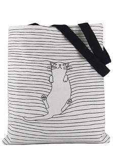 CUTE CAT ГОЛЬФИ TOTE BAG 2 COLORS KOREAN STYLE - непромокальний