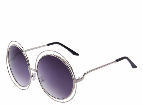 MERRY'S ROUND SUNGLASSES SHADES DOUBLE BIG FRAME