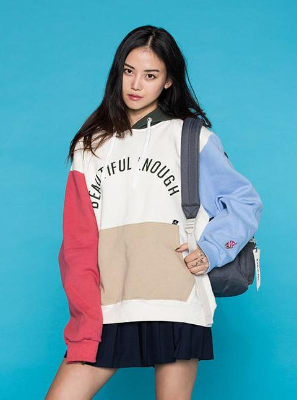 90's STYLE COLORFUL OVERSIZED HOODIE